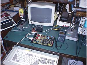 An electronics development table